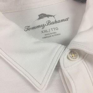 Tommy Bahama Men's XXL/TTG White Polo Shirt